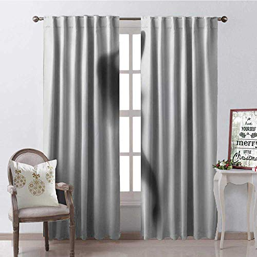 - Hengshu Simple Beauty Lady Shadow Thermal Insulating Blackout Curtain Blackout Draperies for Bedroom W96 x L96