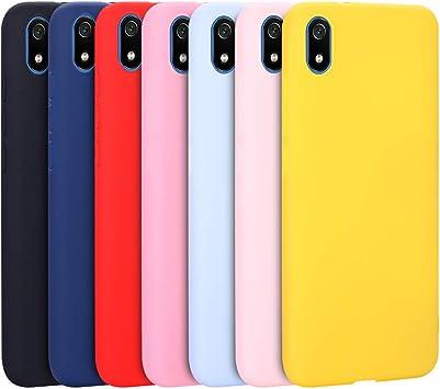 CoverLC 7 x Funda para Xiaomi Redmi 7A, Carcasa Cover en Silicona ...