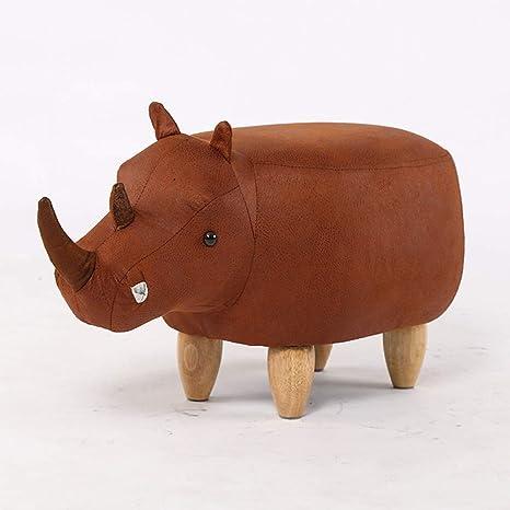 Strange Amazon Com Qqxx Cartoon Rhinoceros Animal Soft Pouffe Ocoug Best Dining Table And Chair Ideas Images Ocougorg
