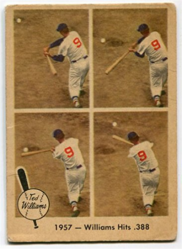 Fleer 1959 Ted Williams 1957 Williams Hits .388 Card #58 Boston Red Sox