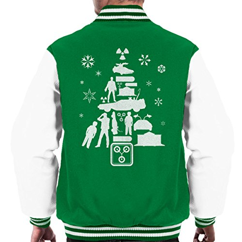 white Kelly Future Varsity Men's Tree To Christmas The White Silhouette Back Jacket v4PCqxP
