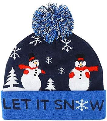 Trendy Apparel Shop Youth Size Kids Ugly Christmas Theme Pom Winter Cuff Beanie
