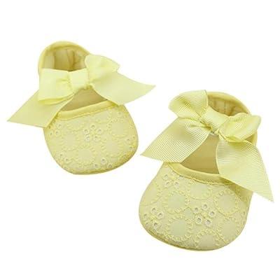 AMA(TM) Newborn Baby Crib Soft Bottom Sole Shoes Warm Ribbon Bowknot Toddler Shoes