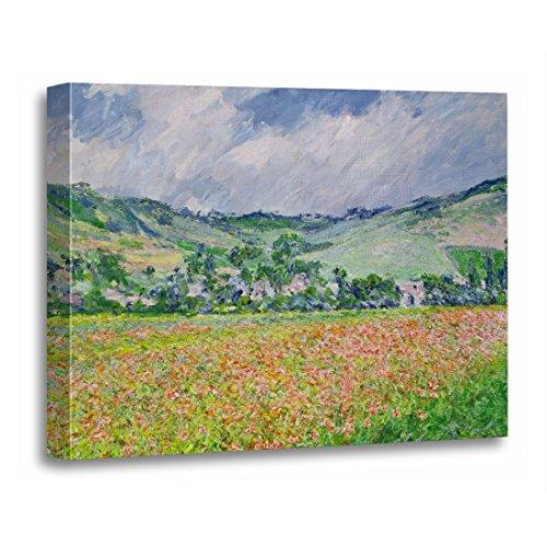(TORASS Canvas Wall Art Print Champ Claude Monet The Poppy Field Near 1885 Coquelicots Artwork for Home Decor 16