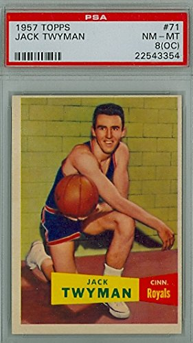 1957 Topps Basketball 71 Jack Twyman PSA 8 Off-Center