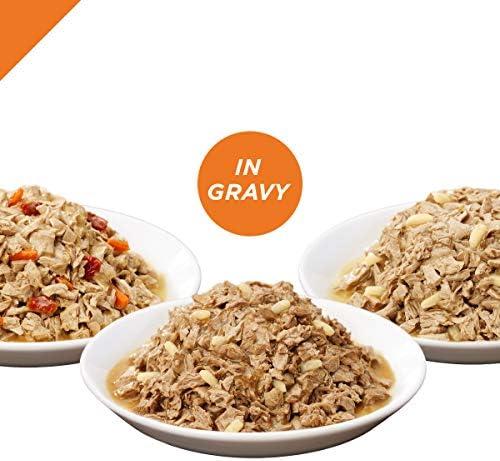 PURINA Pro Plan Gravy Wet Cat Food Variety Pack, Chicken & Turkey Favorites - (2 Packs of 12) 3 oz. Cans 4