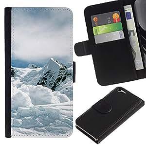 All Phone Most Case / Oferta Especial Cáscara Funda de cuero Monedero Cubierta de proteccion Caso / Wallet Case for Apple Iphone 6 // Nature Mountan Snow