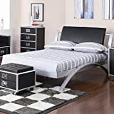 Coaster Home Furnishings LeClair Full Metal Platform Bed Black and Silver Review