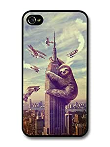 King Kong Parody Funny Sloth Funny Cool Style Design case for iPhone 4 4S