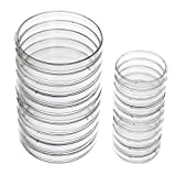 SODIAL(R) Plastic Petri Dish Sterile Dishes with Lid, 100 mm and 60 mm, 20 Pcs