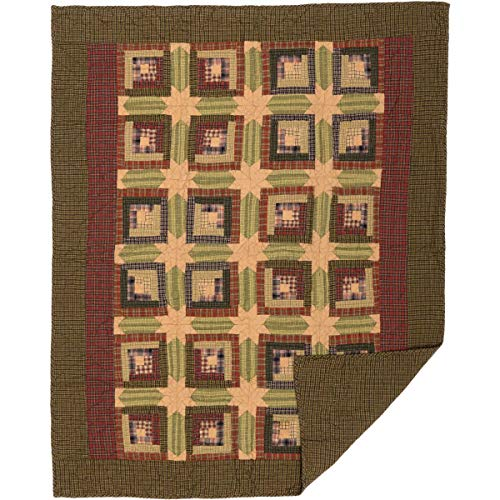 VHC Brands Rustic & Lodge Pillows & Throws - Tea Cabin Green Throw