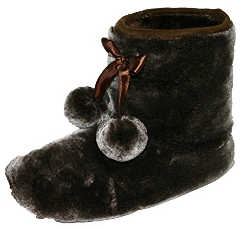 Dunlop Bree Boot Brown Ladies Slippers Sizes Furry 3 Ankle 8 6rxrwq