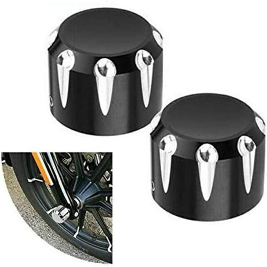 A-Cromo Tapa de tuerca de eje delantero de rotaci/ón de hoja de moto para Harley Dyna Touring XL883 1200 XG Softail