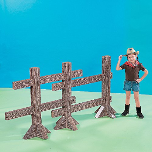 Split Rail Fence Post Cardboard Stand-Up