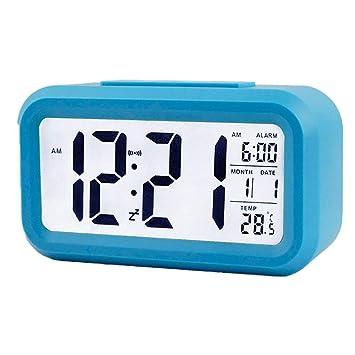 Chilc Despertador Digital con Alarma, Arespark Reloj Despertador DE 5,3 Pulgadas. Color Azul (Azul): Amazon.es: Hogar