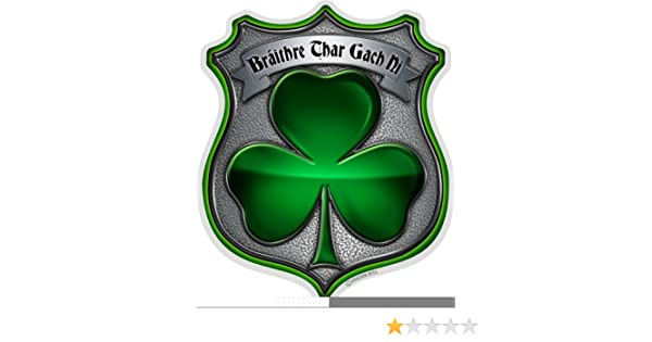 "IRISH BROTHERHOOD Reflective Full Color Irish Firefighter DECAL 2/"" x 2/"""