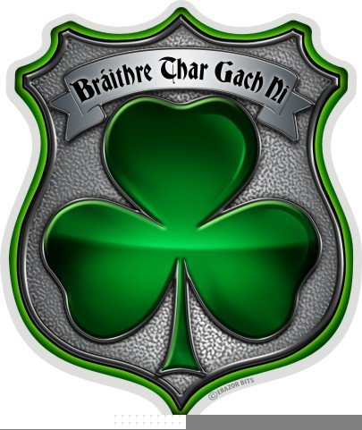 Law Enforcement Decals, Show Your Pride with our Policeman's Brotherhood Irish Patriotic Decals, Perfect for Your Kitchen, Car, Wall or Bike, Gifts for Law Enforcement (2IN)