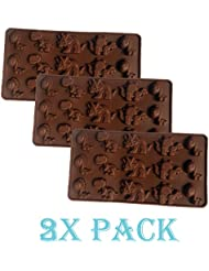 3 Pack of X Dinosaur Ice Cube Chocolate Soap Tray Mold Silicone Party maker (Ships From USA)