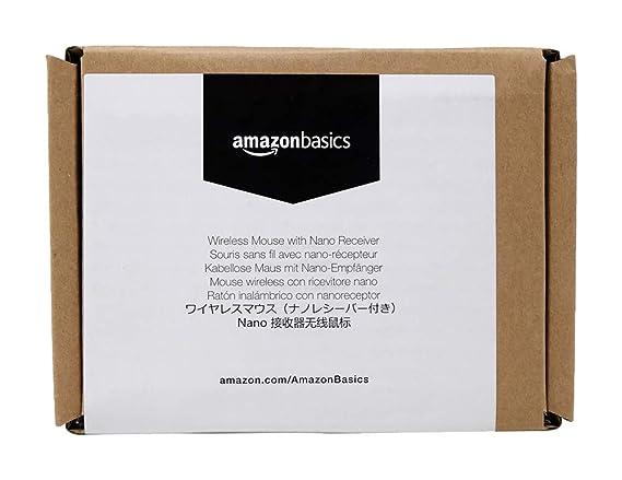 AmazonBasics Schnurlose Maus mit Nano-Empfänger (schwarz)