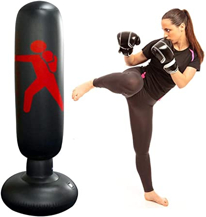 Pro~Freestanding Reflex Punching Bag Fitness Training Punching Bag Ball 02