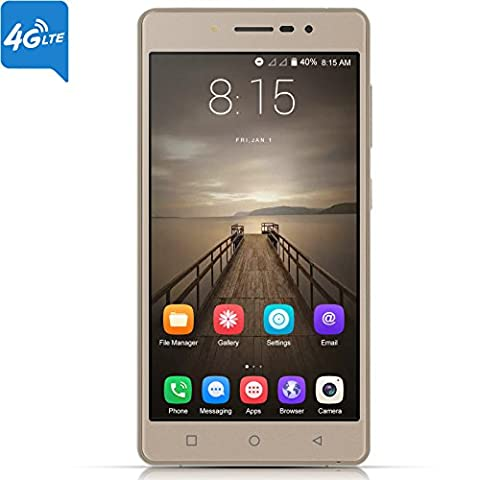Xgody 1GB+16GB 5'' Android 7.0 For 4G FDD-LTE/3G/2G Network Unlocked Cell Phones Dual Camera (8MP+5MP) Support Smart Gesture/GPS/WIFI HD Screen(1280/720) Celulares Desbloqueados (Tmobile Go Cell Phones)