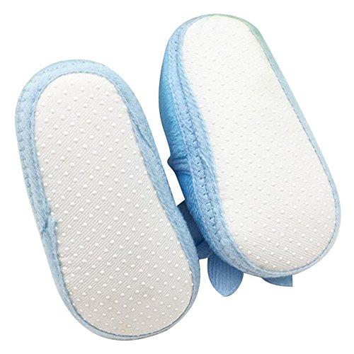 Highdas Niño Recién Nacido Las Muchachas Caliente Raquetas Arco Caminante Bebé Pesebre Botas Azul