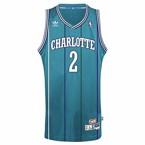 adidas Charlotte Hornets #2 Larry Johnson NBA Soul Swingman Jersey, Teal – DiZiSports Store