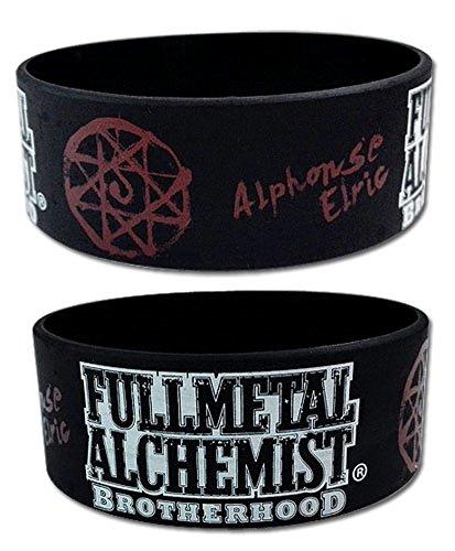 Fullmetal Alchemist Brotherhood Wristband: Alphonse Elric Symbol Pvc Wristband