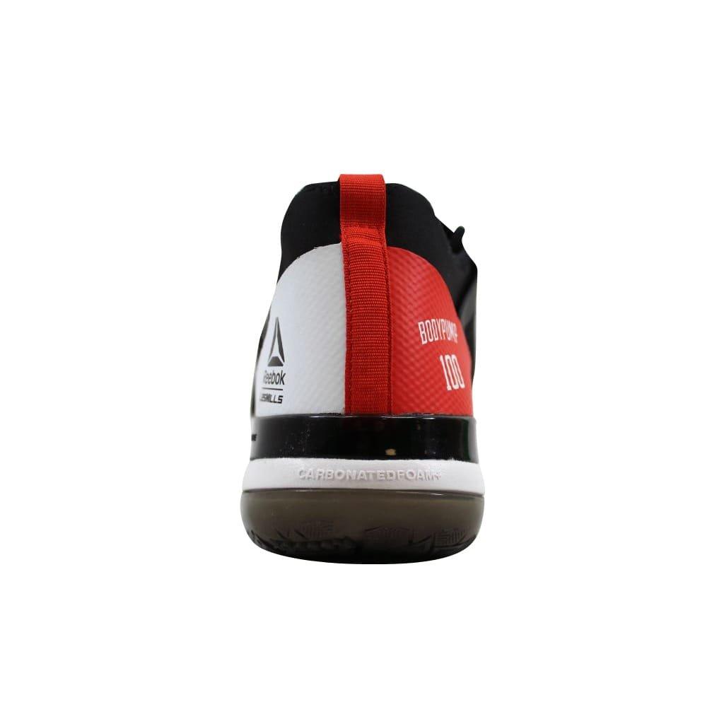 7cc33b570e628 Reebok BS7278 Men's LES Mills Bodypump 100 Ultra 4.0 Shoe,  Black/Carotene/White