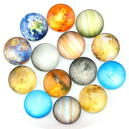 (Ktdorns Planetary Fridge Magnets -14 Pack Refrigerator Magnets, Office Magnets, Calendar Magnet, Whiteboard Magnets,Perfect Decorative Magnet Set with Storage Box)
