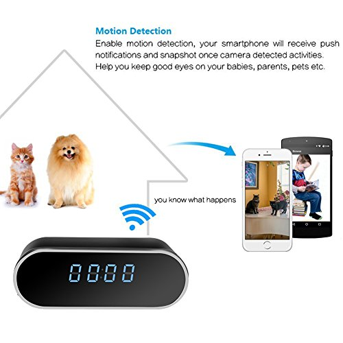 Moosoo-Wireless-Mini-Camera-HD-1080P-Round-Alarm-Clock-Camera-Night-Vision-Motion-Detection-Alerts-Alarm-Clock-Baby-Pet-Monitor-Nanny-Cam-Real-time-Home-Surveillance-Cameras-for-iOS-Android