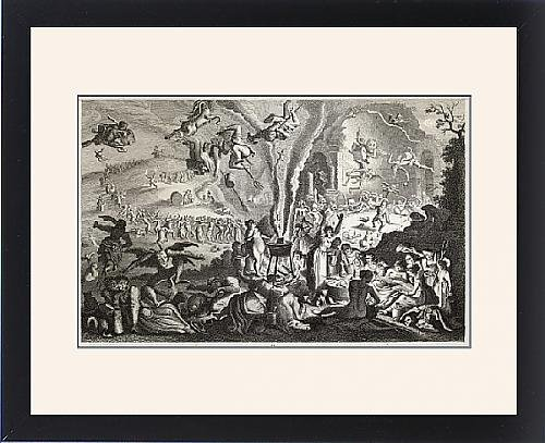 Framed Print Of Witches Sabbat (Herr) by Prints Prints Prints