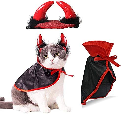 Pannow Halloween Pet Pirate Costume for Cats and Small Dogs Halloween Party Dress Up Festival Decoration Cosplay Costumes