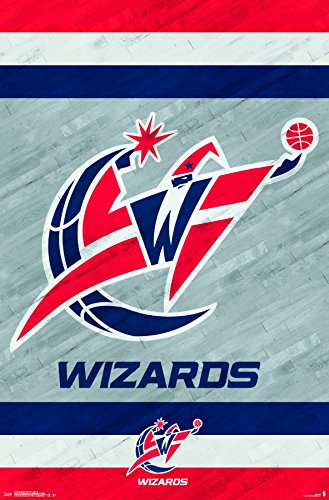 Trends International Washington Wizards-Logo 14 Premium Wall Poster, 22.375