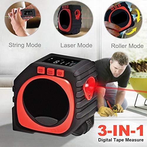 - Unik always 3-in-1 Digital Tape Laser Tool Measure String Mode/Sonic Mode/Roller Mode