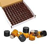 Wresty 100 Packs Essential Oil Bottles,1ml