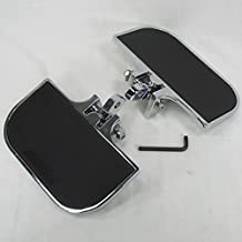 """Universal Mini Floorboards for Harley Davidson FXR, Softail, Dyna, Sportster and MANY MORE MODELS with 1/2"""" Clevis Style Mounts - Chrome - Motorcycle Chopper Bobber"""