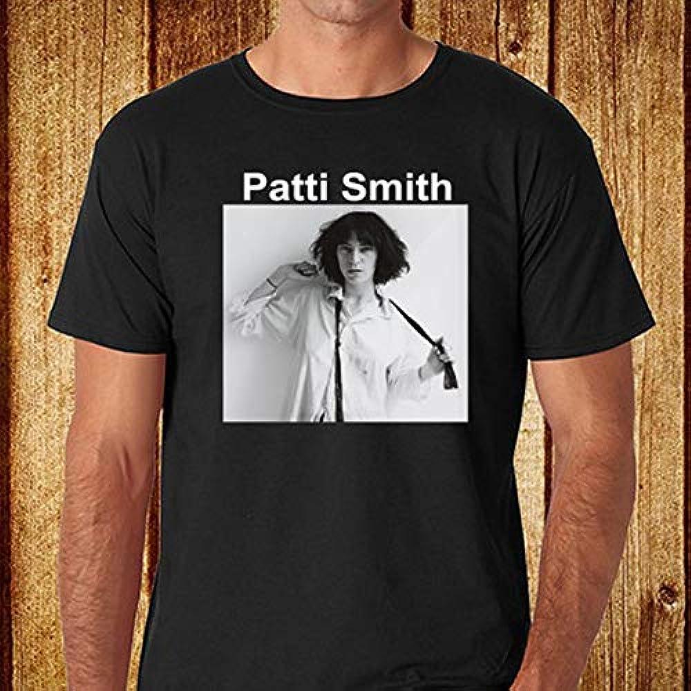 Camiseta Negra New Pattffi Smitha Punk Rock Music Singer para Mujer: Amazon.es: Ropa y accesorios