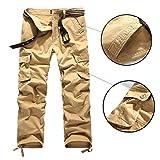 TOPING Fine Men Cargo Pants Military Army Pant 100% Cotton Khaki/Green/Brown/Black Big Size 30-44 Men Pants