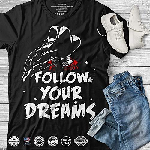 Follow Your Dreams Horror Freddy Costume Customized T-Shirt Hoodie_Long Sleeve_Tank -