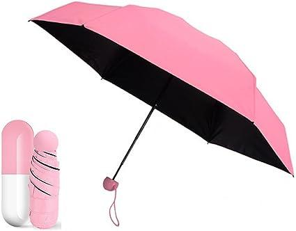 Capsule Umbrella Mini Light Small Pocket Umbrellas Anti-UV Folding Compact Cases