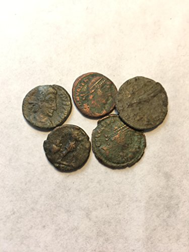 IT 5 Ancient Roman Bronze Coins Comes With Gift Bag Cleaned