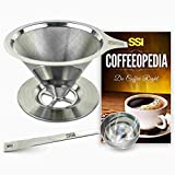 Pour Over Coffee Filter Dripper Kit with Bonus 2 Tablespoon Scoop - All Hig ....