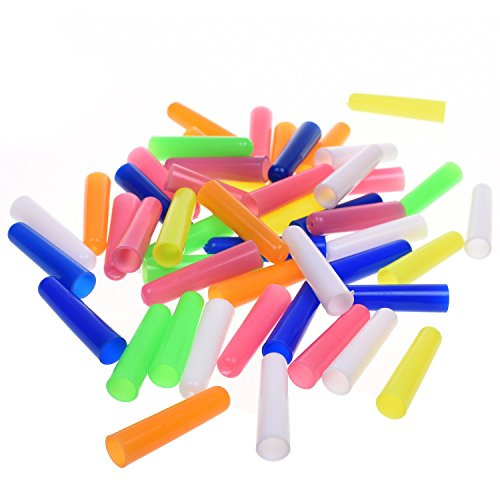 BCP 50pcs Random Color Plastic Pencil Cap Pencil Protector -