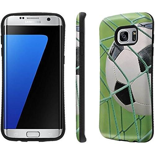 Galaxy S7 Edge / GS7 Edge Case, [NakedShield] [Black Bumper] Heavy Duty Shock Proof Armor Art Phone Case - [Soccer Sales