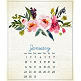 NEW YEAR'S 50% OFF SALE !! Calendar Floral in CD Jewel Case Holder, Great Gift,