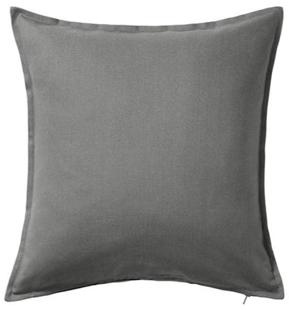 - Funda de cojín color gris IKEA Gurli 50 cm x 50 cm., Gris, Pack de 4