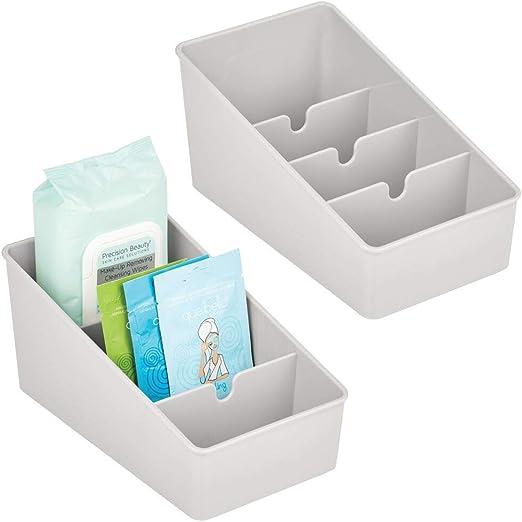 mDesign Juego de 2 cajas de almacenaje para baño – Caja ...