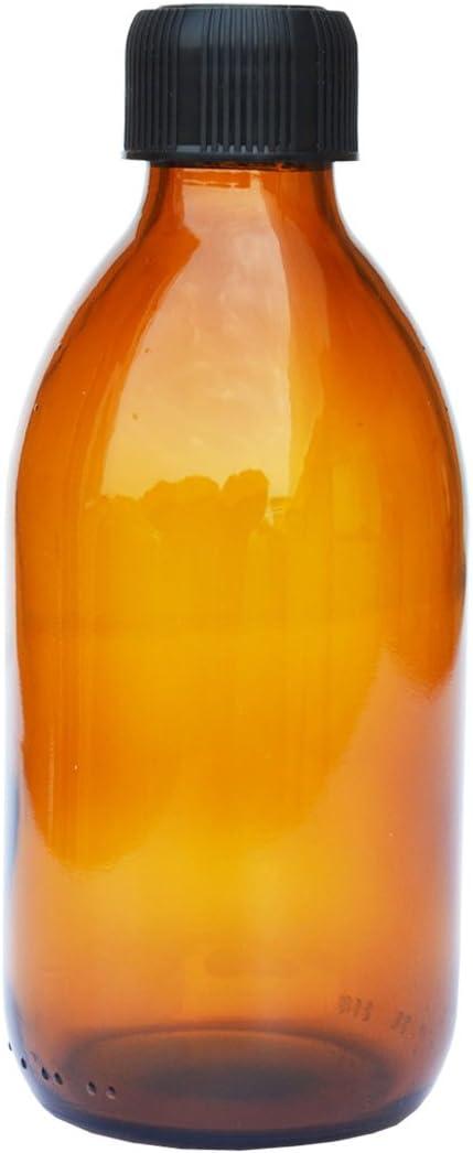 Contenance 125 mL 6 x flacons vides en verre ambr/é avec bouchon FL26