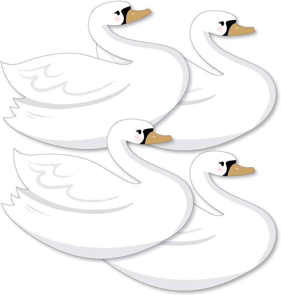 Swan Party Decor Swan Die Cuts Swan Cut Outs Glitter Swan Confetti Swan Card Making Free Bonu Gift  Swan Confetti
